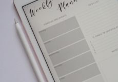 Easy Daily Routine - Weekly Planner