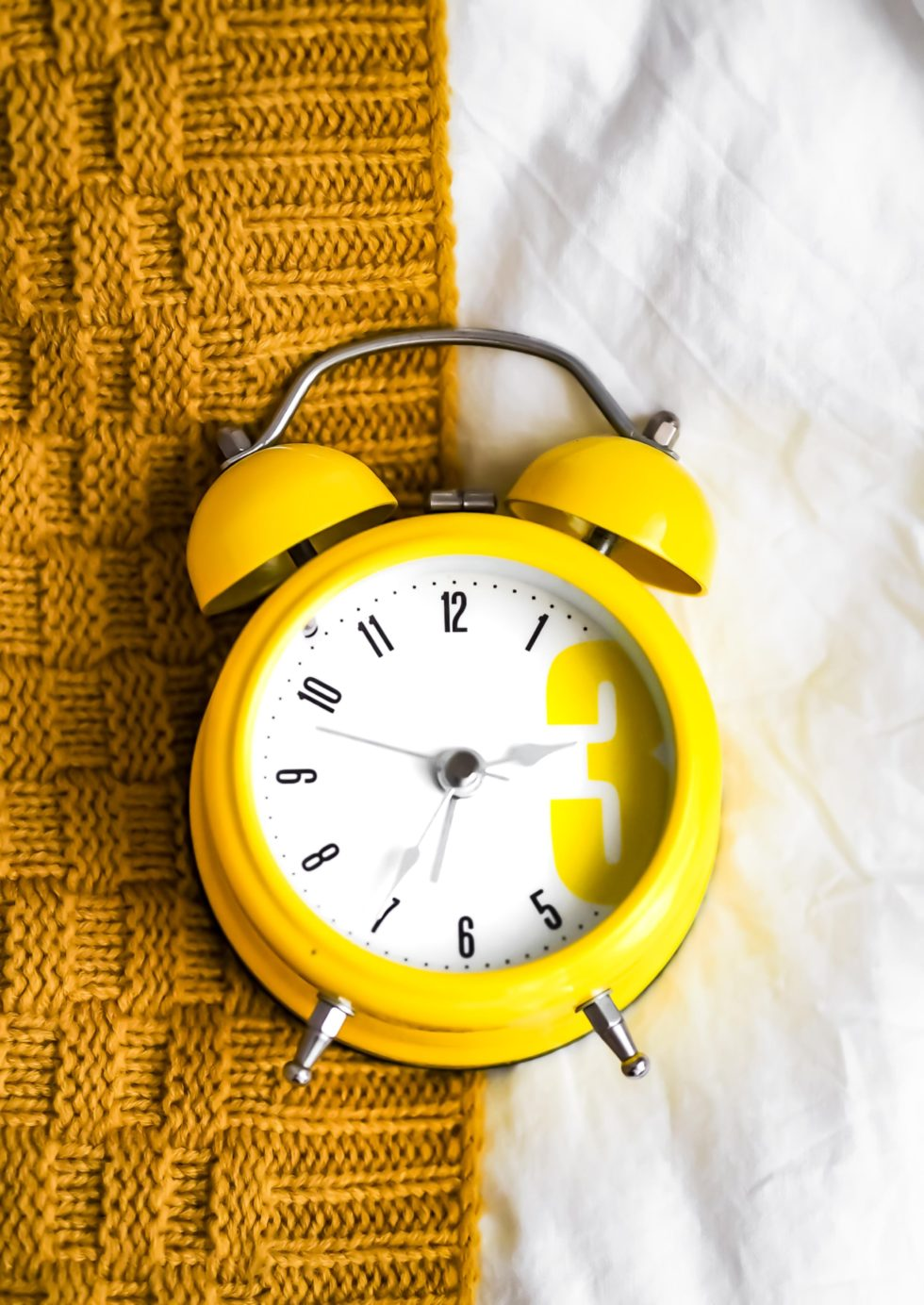 yellow alarm clock
